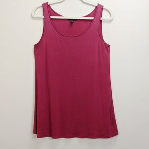 Eileen Fisher XS Tank Top Red 100% Silk Shell